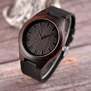 Image 5 - Personalizado gravado relógios de madeira presentes para o pai, mãe, amigos, aniversário, dia do aniversário, presente do padrinho