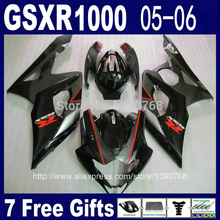 Wtrysk fairing zestaw do SUZUKI GSX-R1000 05 06 K5 GSXR 1000 2005 2006 czerwony czarny owiewki motocyklowe zestaw NM84 osłona