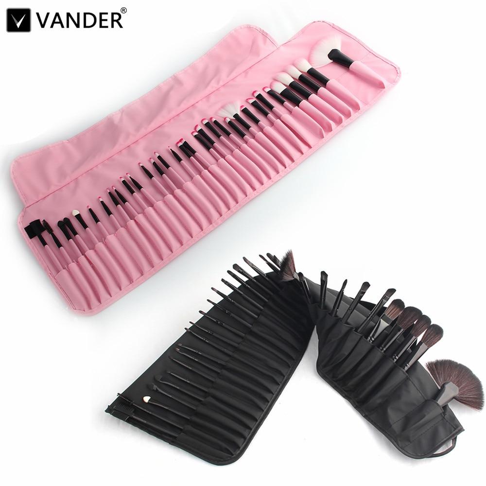 VANDER Professional 32 Pcs Bag Of Makeup Brushes Set Kits Make Up Cosmetics MULTIPURPOSE Lipstick Eyeshadow Powder Brush + Bag