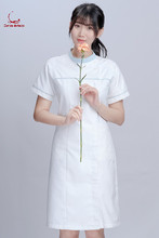 Nurses short sleeves womens dental hospital nurses dress pharmacy plastic and beauty salon work clothes