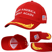 New Make America Great Again Donald Trump Campaign Hat Embroidered Red Cap