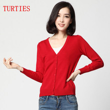 NEW Spring and Autumn Cashmere Blending Women Knit Cardigan Slim wild V neck Wool Cardigan Women high quality Sweaters coat