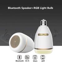 Smart RGB LED Music Light Bulb Wireless Bluetooth Speaker HiFi Radio Remote APP Control Dimmable Timer Bedroom E27 Lamp Bulb