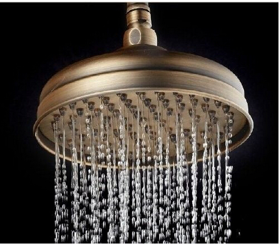 Comprar Moda bronce de alta calidad total de latón agua guardar 9'rainfall ahorro de agua ducha baño cabeza de Ducha de shower head hand fiable proveedores en MINGYI SANITARY WARES CO.,LTD