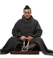ZanYing буддийский медитация плащ с капюшоном флис хлопок зимнее пальто унисекс ZYS243