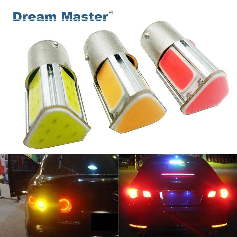 1PCS Super bright Auto P21W COB 1156 BA15S 4 COB LED Car R5W S25 Car Brake Bulbs Lights  ...