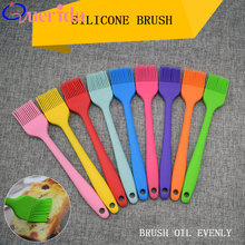 3Pcs/Set Handle Silicone Oil Brush Multipurpose Safety BBQ Tools Brush The Cream Baking