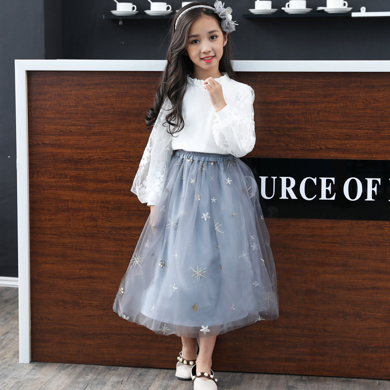 Summer Tutu Skirts for Girls Children Sequins Ball Gowns for Kids Fluffy Tulle Long Skirt Girl Princess Teenage Girls Clothes