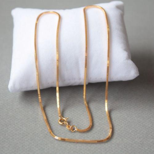 Pure 18 พันสีเหลืองทอง 1.0 มิลลิเมตรมิลานสร้อยคอสร้อยคอ Chain Link 40 เซนติเมตรความยาว Au750-ใน สร้อยคอ จาก อัญมณีและเครื่องประดับ บน   2