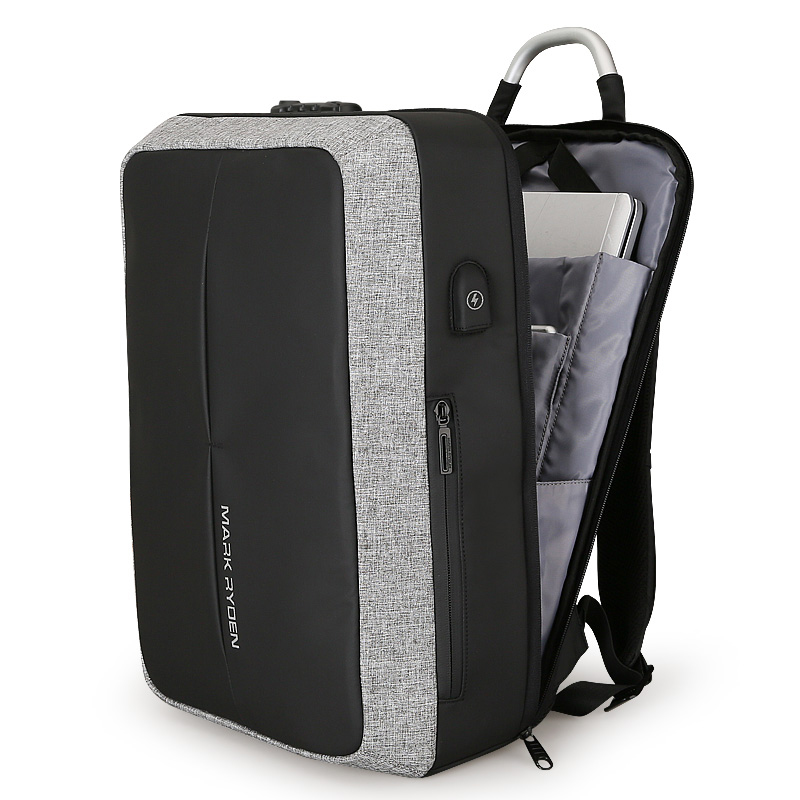 2019 New Anti-thief USB Recharging Laptop Backpack Hard Shell No <font><b>Key</b></font> <font><b>TSA</b></font> Customs Lock Design Backpack Men Travel Backpack image