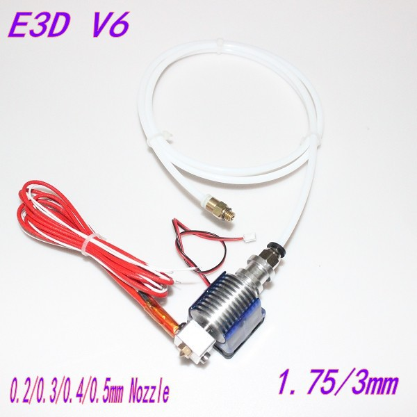 E3D V6 Hot End Full Kit 1.75/3mm 12V Bowden/RepRap 3d printer extruder parts accessories 0.2/0.3/0.4/0.5mm Nozzle