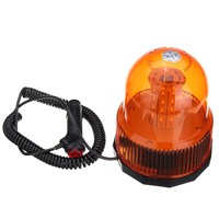 12 24V 40 SMD5730 LED Magnetic Mount Rotating Flashing Amber Dome Beacon Recovery Warning Strobe Light