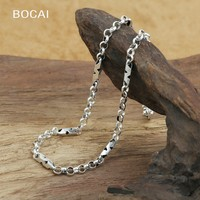 Factory wholesale sterling silver jewelry silver pendant S925 style all match long 4mm slub Chain Necklace