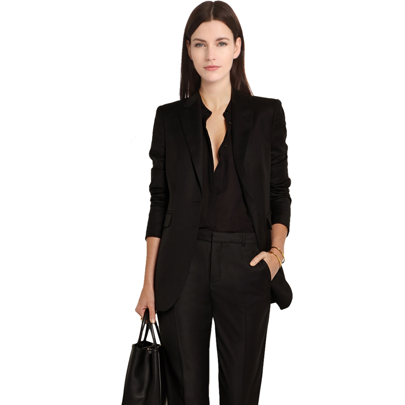 Fashion Women Business Suits Formal Office Strench Suits Work Uniform Designs Women Top and Cropped Pant 2 Piece Set Plus Size
