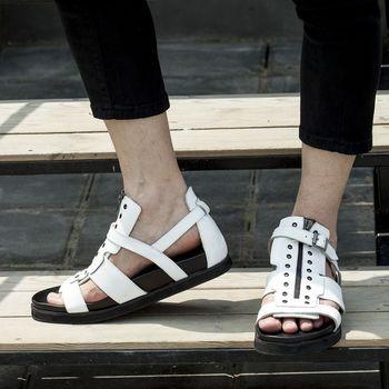 Sandals Men Rome Style Summer Hot Beach Leisure Gladiators Genuine leather Hot 2018