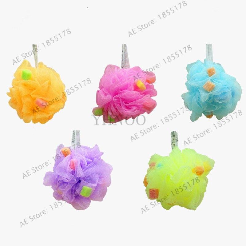 Multicolour Bath Ball Bath Sponge Bath Flower Body Cleaning Mesh Shower Wash Bathroom Accessories Bathroom 1pcs