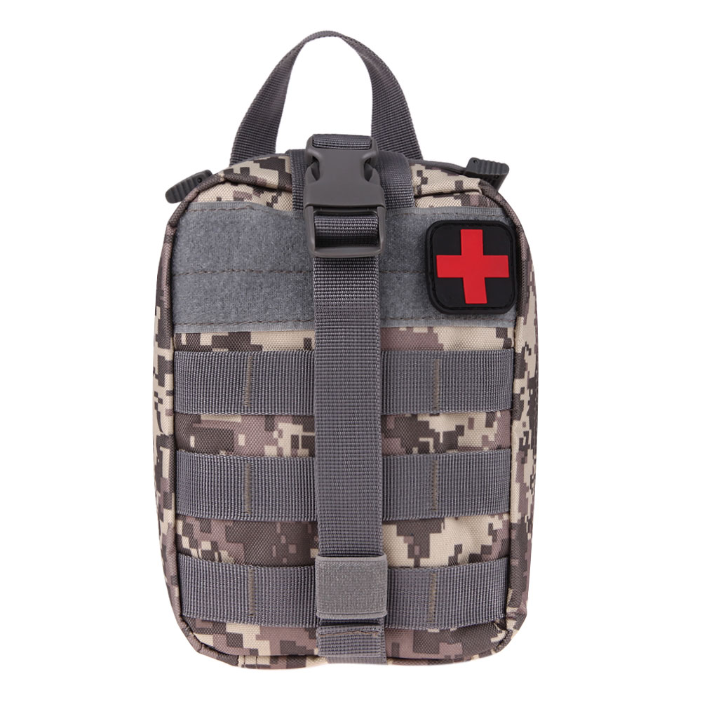 Durable Emergency Kits Bag Tactical Medical First Aid Kit Military Waist Pack Outdoor Camping Travel Tactical Molle Pouch 3color airsoftpeak military tactical waist hunting bags 1000d outdoor multifunctional edc molle bag durable belt pouch magazine pocket