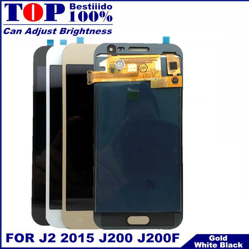 J200 lcd para samsung Galaxy J2 2015 J200F J200M J200H J200Y LCD pantalla digitalizador montaje de pantalla táctil para samsung j2 j200 lcd
