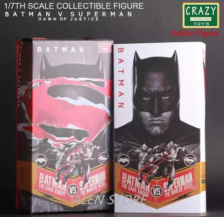 ALEN DC Comics Justice League Anime Batman Superman Scale Collectible Action Figure Toys 20cm PVC Kid Collection Model xinduplan dc comics justice league crazy toys batman superman action figure 12 inches large pvc collection model 0980