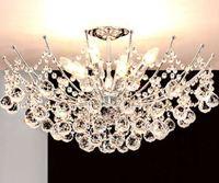 Простые современные кристалл лампы в европейском стиле круглый потолочный светильник гостиной спальня столовая освещения