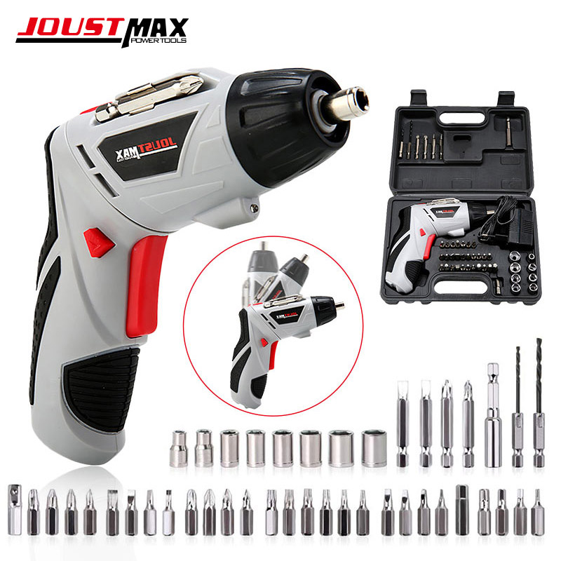 4.8V Mini Electric Screwdriver With LED Light Cordless Household Rechargeable Battery 45 Bits Multi-function Power Tools Dremel