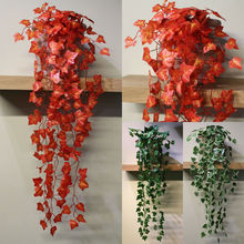 2019 Brand New Style Plastic Artificial Trailing Ivy Garlands vine plant garden wedding Outdoor Indoor