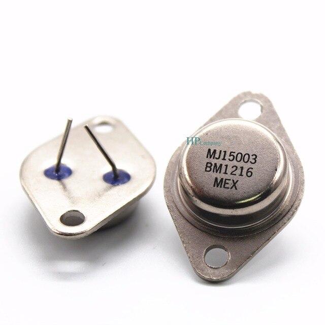 Darmowa wysyłka 20 sztuk wysokiej tranzystor mocy MJ15003 MJ15003G TO 3 gorączka moc dźwięku rury