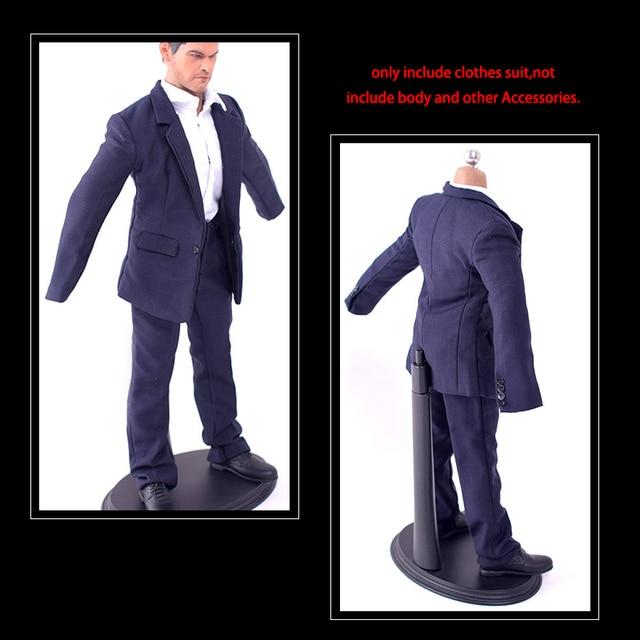 """ZYTOYS 1//6 Male Suit Clothes Suit Blue Business Coat Shirt for 12/"""" Action Figure"""