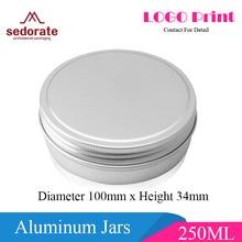 Sedorate 20 pcs/Lot 250ML Aluminum Round Jars Car Wax Hair Wax Soap Food Moon Cake Storage Thread Aluminum Jar Cases MC1350