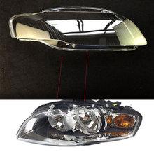 2 pcs For audi A4 B7 2006 2007 Front headlights headlights glass mask font b lamp