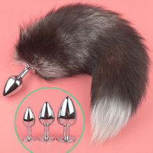 Exotic Accessories Fox Tail Anal Plug Metal Anus Butt Plug Adult Games Sex Products Flirting Couples Toys For Women S M L(China)