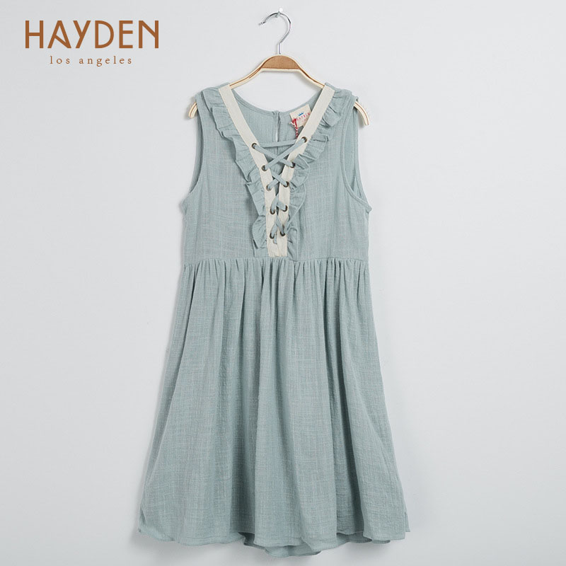 HAYDEN girl dress 2017 summer evening costumes 7 8 9 10 years sundress teenage girls clothing frock children girls kids clothes bohemia teenage girls dress summer 7 9 11 years costumes spring children clothing kids clothes girls party frocks designs hb3028