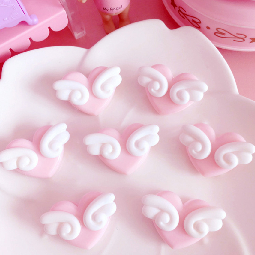 5Pcs/lot Love Wings Plastic Pink Clip DIY Decorative Photo Clip For Party Cute Decor Bag Clip