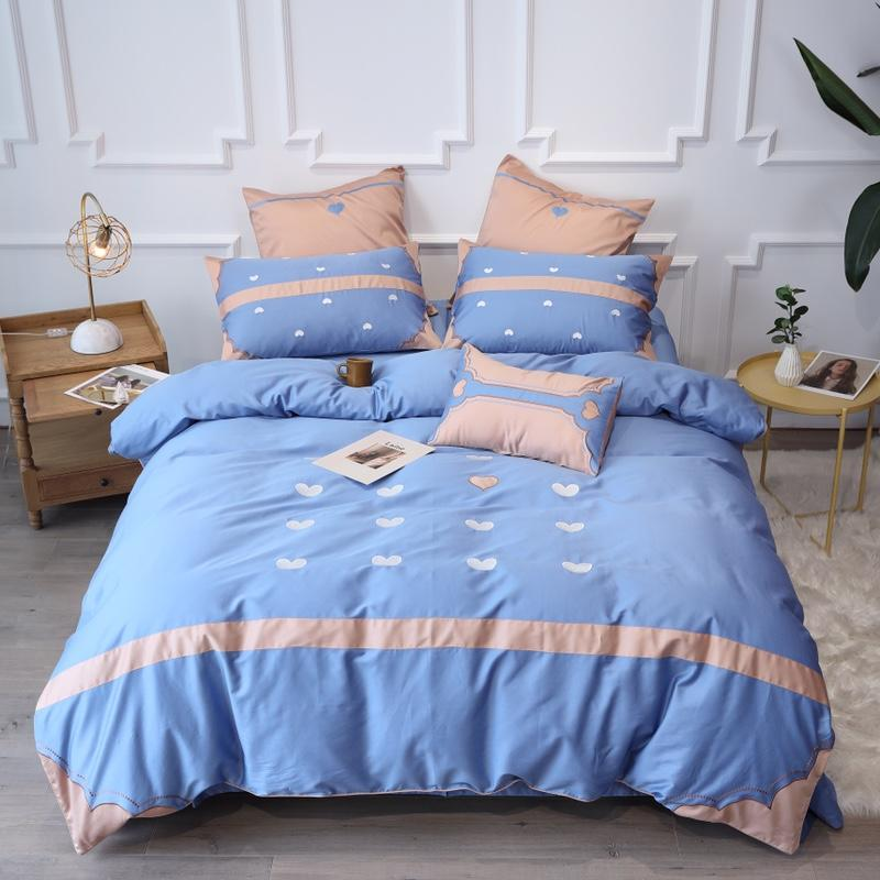 Luxury Egypt Cotton The shape of love Bedding Set Splicing corners Duvet Cover Bed Sheet Pillowcases Queen King Size 4/6/7PcsLuxury Egypt Cotton The shape of love Bedding Set Splicing corners Duvet Cover Bed Sheet Pillowcases Queen King Size 4/6/7Pcs