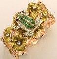 Лягушка шарм стретч браслет для женщины античное золото серебро с покрытием ювелирные изделия цепи манжеты A18 оптовая челнока