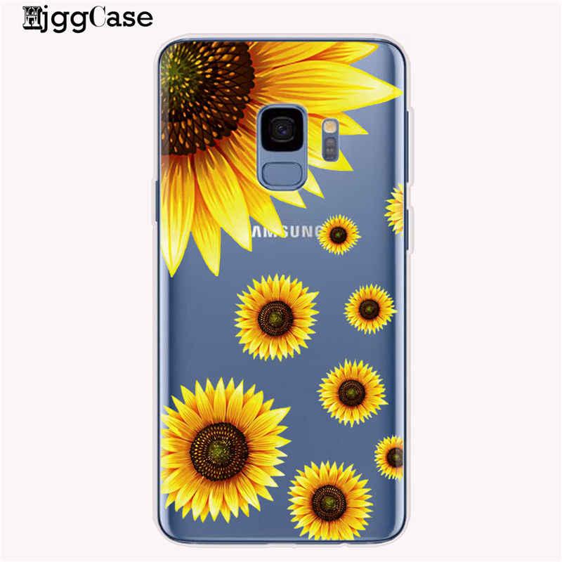 Funda de teléfono de verano con margaritas, girasoles, flores, Fundas para Samsung Galaxy S8, S9, S10 Plus, S10e, J6, A6, A8, A5, 2017, A9, A7, 2018