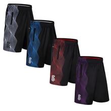 Дизайнерские полосатые тренировочные баскетбольные Беговые Спортивные шорты, свободные шорты средней длины размера плюс с двойным карманом, баскетбольные шорты