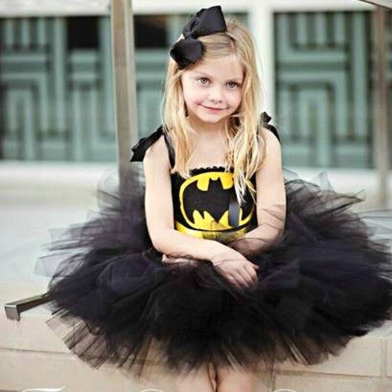Children Girl Batman Tutu Dress Photo Props Kids Fancy -4029