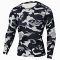 lightning Mens Compression Base Layer Weight Lifting Fitness Tight MMA Crossfit Tops Rashguard T-shirt camouflage Long Sleeves
