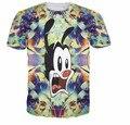 2016 3D camiseta homme Impresso Mickey Esqueleto 3D Impresso Manga Curta Tops Camisetas Das Mulheres Dos Homens Frete Grátis