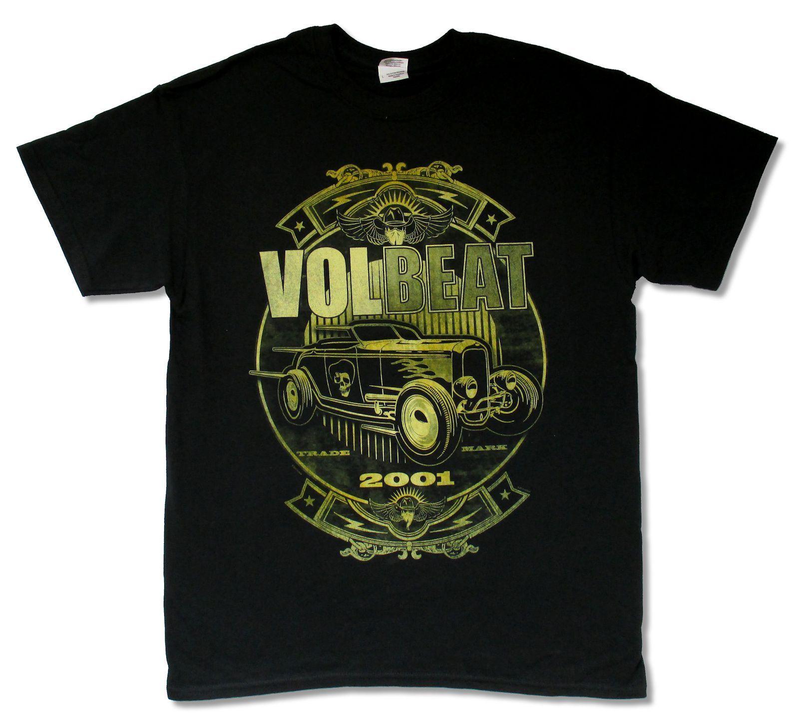 T-Shirt 2018 Fashion Men top tee Volbeat Custom Shop Car Black T Shirt New Official Band Merch