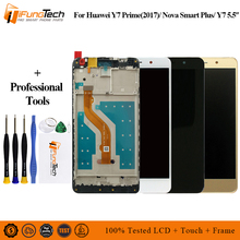 5.5 inch Full LCD DIsplay+Touch Screen Digitizer Assembly For Huawei Y7 Prime 2017 TRT-LX2 / Nova Lite+ TRT-LX1 with Frame