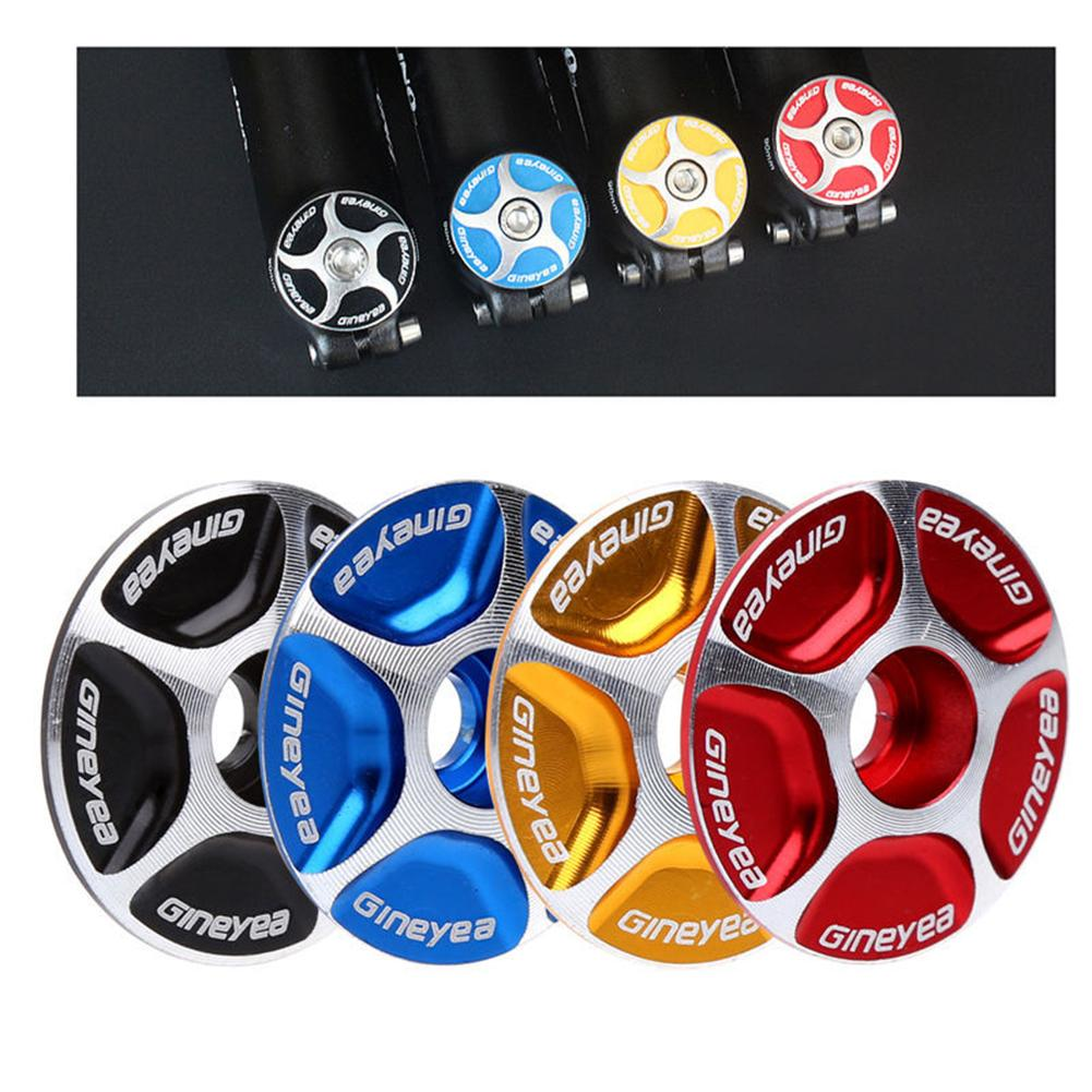 4 Color Aluminum Threadless Road MTB Bike Stem Accessories Bicycle Cycling Headset Top Cap Cover
