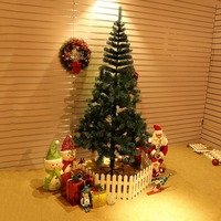Green Artificial Christmas Tree Indoor Plastic Fake Plant Trees For Kids Christmas Ornaments Decoration Celebrate Supplies