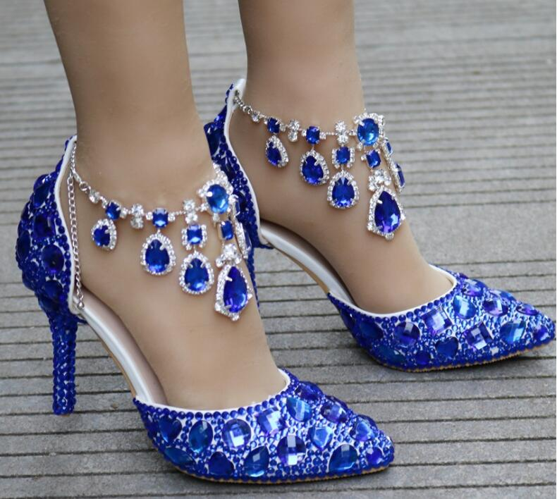 Gold pink fashion rhinestone high heels women pumps 2018 summer new peep toe hollow out glitter