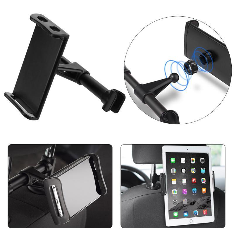 ALLOET 200mm Car Universal Backseat Headrest Support Phone Tablet Clip Mount Bracket Holder Car Seat Back Holder For iPhone iPad