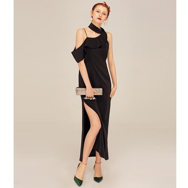 2017 herbst sexy schwarzen kleid club tragen frauen elegante partei ...