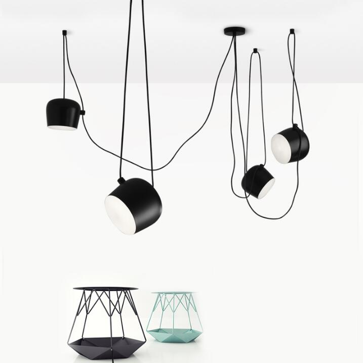 Free shipping Bongos Cafe Bar Restaurant chandelier modern showcase  lighting,color: black / white, AC110-240