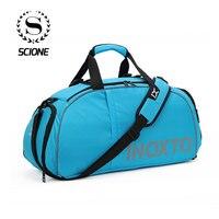 Scione 40L Waterproof Travel Crossbody Bag Multifunction Luggage Suitcase Large Duffel Solid Backpack Weekend Sport Shoe Handbag
