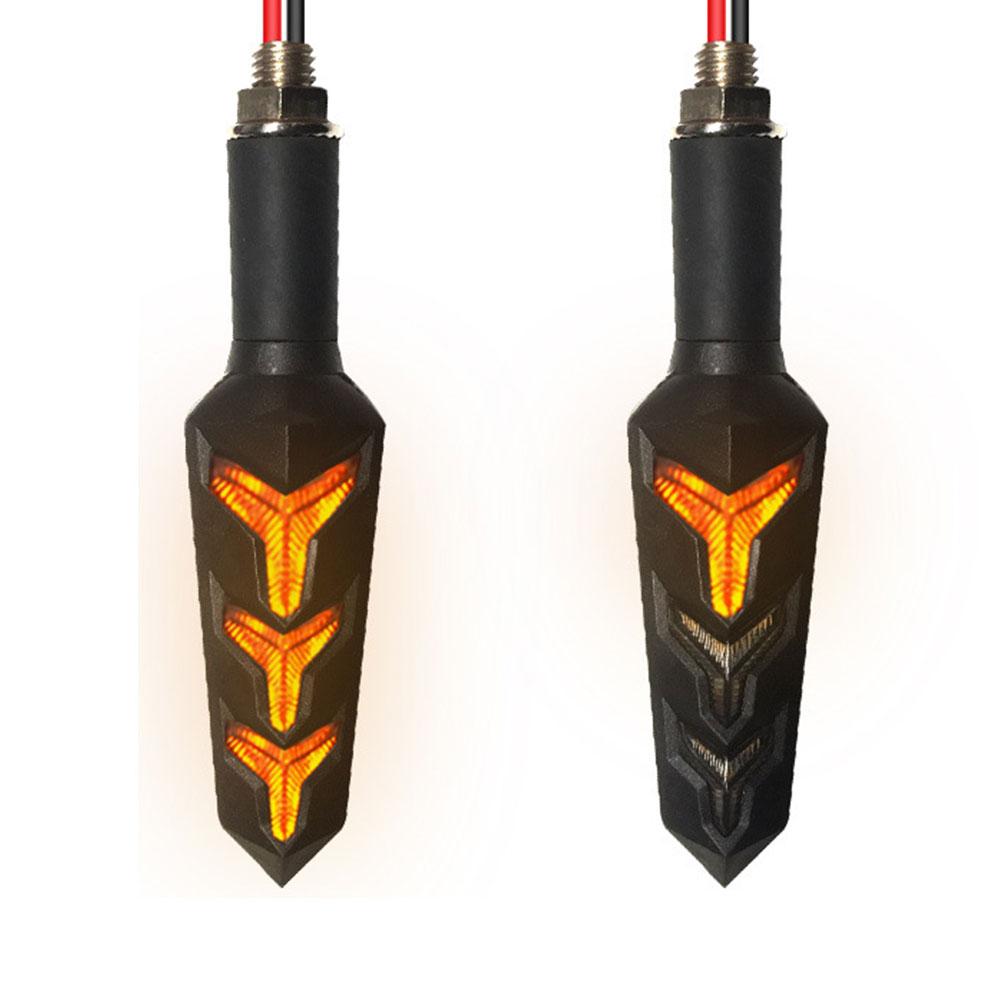 Световая сигнальная лампа с поворотом универсальная поворотная сигнальная лампа с двойным использованием струящиеся водяные огни мотоцикл супер яркий светодиодный прочный - Цвет: Цвет: желтый
